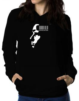 Canada - Barcode With Face Women Hoodie