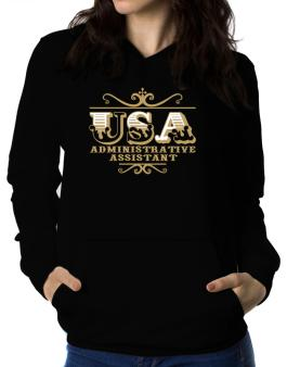 Usa Administrative Assistant Women Hoodie