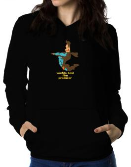 Worlds Best Film Producer - Superhero Women Hoodie