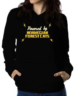 Powered By Norwegian Forest Cats Women Hoodie