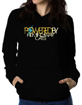 Powered By Hemingway Cats Women Hoodie