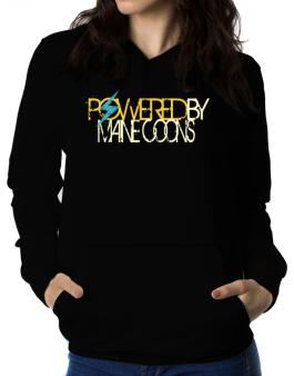 Powered By Maine Coons Women Hoodie
