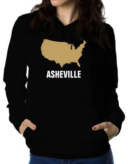 Asheville - Usa Map Women Hoodie