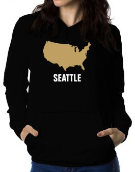 Seattle - Usa Map Women Hoodie