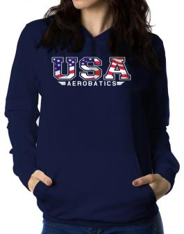 Usa Aerobatics / Flag Clip - Army Women Hoodie