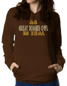 Like A Great Horned Owl In Heat Women Hoodie