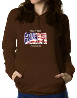 Grandpa Anaconda - Us Flag Women Hoodie