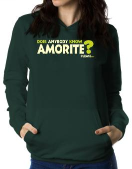 Does Anybody Know Amorite? Please... Women Hoodie