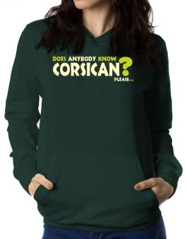 Does Anybody Know Corsican? Please... Women Hoodie