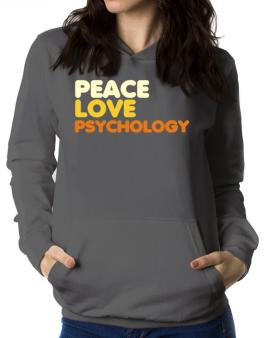 Peace Love Psychology Women Hoodie