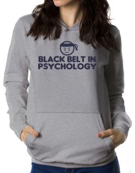 Black Belt In Psychology Women Hoodie