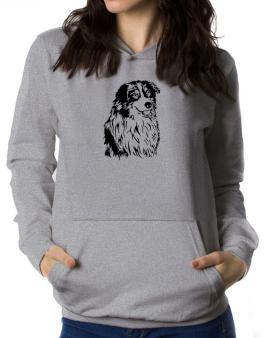Australian Shepherd Face Special Graphic Women Hoodie