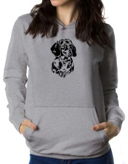 Dachshund Face Special Graphic Women Hoodie