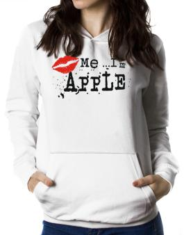 Kiss Me, Im Apple - Lips Women Hoodie