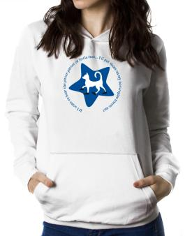 If I Want To Hear The Pitter-patter Of Little Feet ... Ill Put Shoes On My Norwegian Forest Cat Women Hoodie