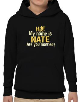 Hi My Name Is Nate Are You Married? Hoodie-Boys