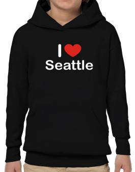 I Love Seattle Hoodie-Boys