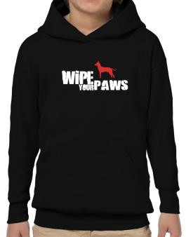 Wipe Your Paws - Peruvian Hairless Dog Silhouette Hoodie-Boys