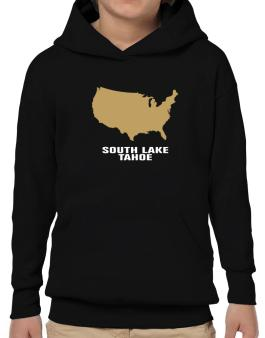 South Lake Tahoe - Usa Map Hoodie-Boys