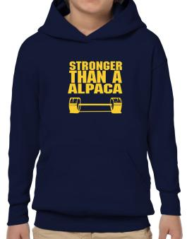 Stronger Than An Alpaca Hoodie-Boys