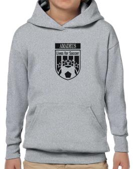 Amadeus Lives For Soccer Hoodie-Boys
