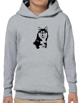 Siberian Husky Face Special Graphic Hoodie-Boys