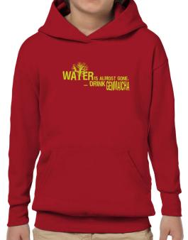 Water Is Almost Gone .. Drink Genmaicha Hoodie-Boys