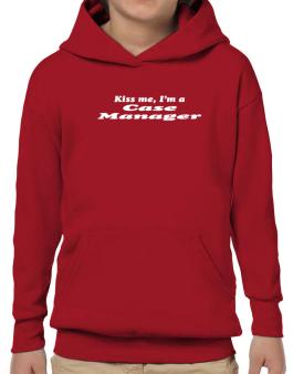 Kiss Me, I Am A Case Manager Hoodie-Boys