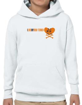 I Love My Irish Terrier - Bones Hoodie-Boys