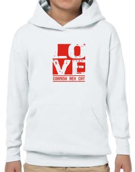 Love Cornish Rex Hoodie-Boys