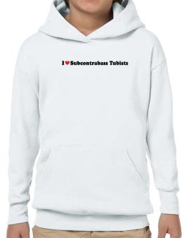 I Love Subcontrabass Tubists Players Hoodie-Boys