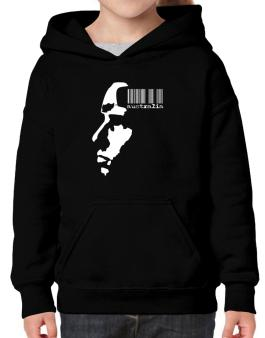 Australia - Barcode With Face Hoodie-Girls