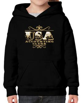 Usa Accounting Clerk Hoodie-Girls