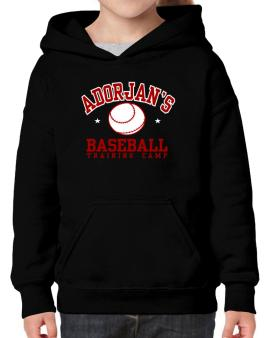 Adorjans Baseball Training Camp Hoodie-Girls