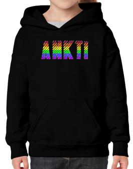 Ankti Rainbow Colors Hoodie-Girls