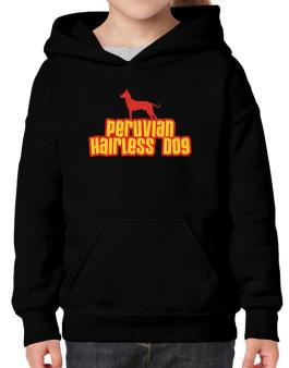 Breed Color Peruvian Hairless Dog Hoodie-Girls