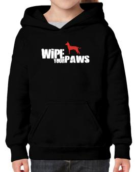 Wipe Your Paws - Peruvian Hairless Dog Silhouette Hoodie-Girls