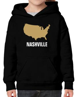 Nashville - Usa Map Hoodie-Girls
