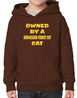 Owned By S Norwegian Forest Cat Hoodie-Girls
