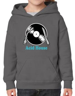 Acid House - Lp Hoodie-Girls