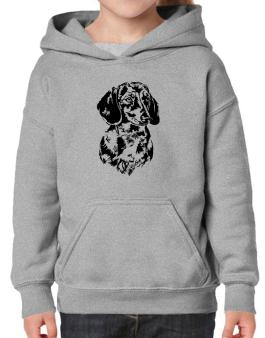 Dachshund Face Special Graphic Hoodie-Girls