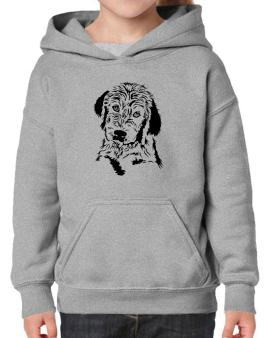 Labradoodle Face Special Graphic Hoodie-Girls