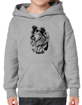 Shetland Sheepdog Face Special Graphic Hoodie-Girls