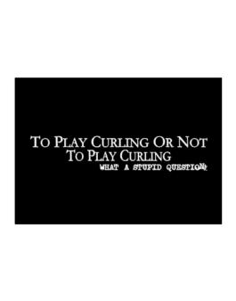 To Play Curling Or Not To Play Curling, What A Stupid Question Sticker