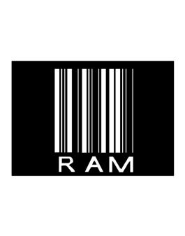 Ram Barcode / Bar Code Sticker