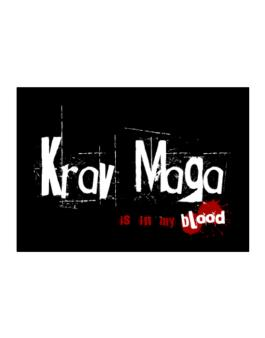 Krav Maga Is In My Blood Sticker