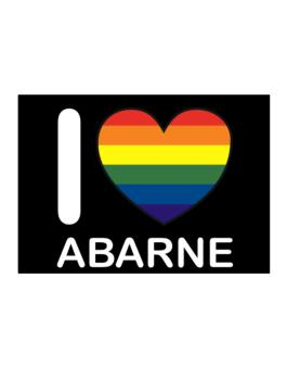 I Love Abarne - Rainbow Heart Sticker