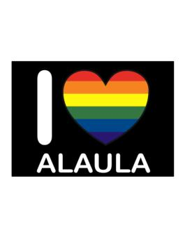 I Love Alaula - Rainbow Heart Sticker