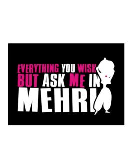 Anything You Want, But Ask Me In Mehri Sticker