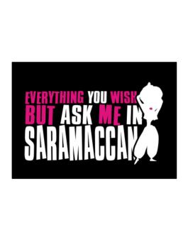 Anything You Want, But Ask Me In Saramaccan Sticker